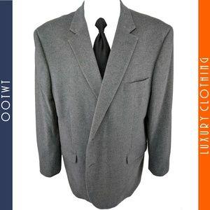JOS A BANK 52R Gray Silk Wool Blend Sport Coat